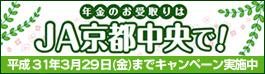 年金お受取りはJA京都中央で