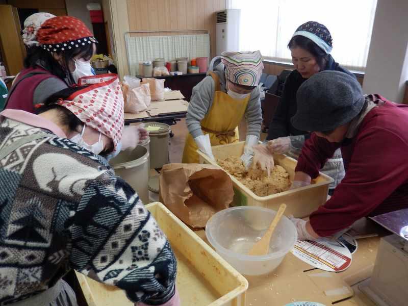 羽束師支店味噌作り教室1