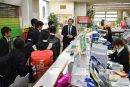 長岡第四中学校1年生の職場訪問学習受入れ
