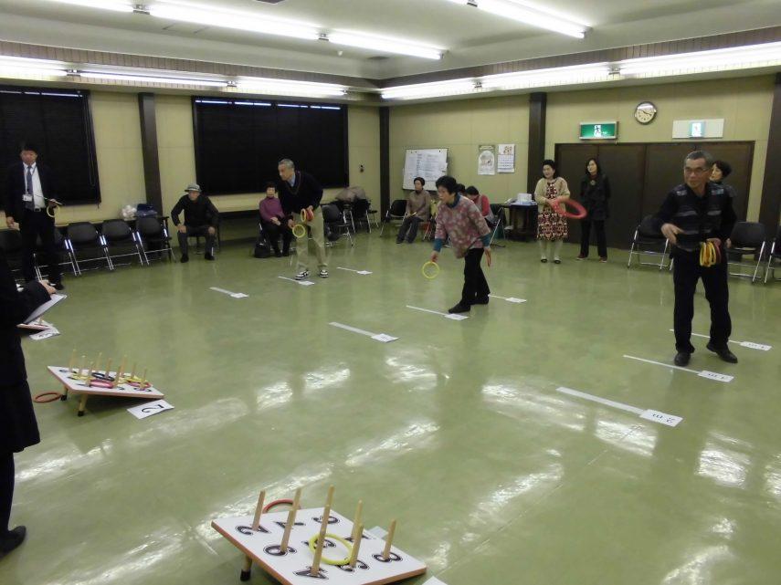 長岡京市支部年金友の会輪投げ大会1