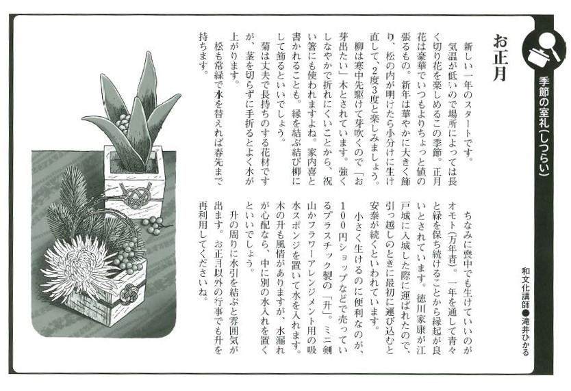 コラム紹介【季節の室礼】1